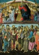 Коронование Девы Марии со святыми и ангелами - Боттичелли, Сандро