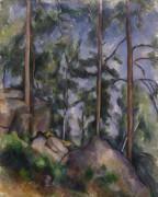 Пейзаж с пиниями среди скал - Сезанн, Поль