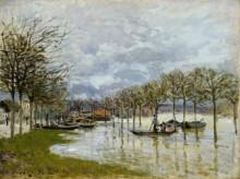 Наводнение на дороге в Сен-Жермен - Сислей, Альфред