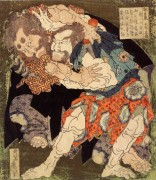 Борцы сумо - Кацусика, Хокусай