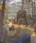 Терраса на Весоу, сад - Вюйар, Жан - Эдуард