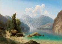 Пейзаж на озере Кёнигзее - Хвала, Адольф