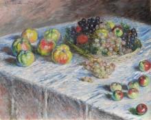 Натюрморт с яблоками и виноградом - Моне, Клод