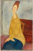 Жанна Эбютерн в желтом свитере - Модильяни, Амадео