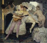 За кулисами, 1905 -  Путц , Лео