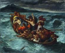 Христос и апостолы во время шторма - Делакруа, Эжен