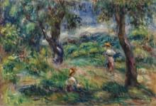 Пейзаж в голубых тонах, 1915 - Ренуар, Пьер Огюст