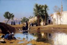 Женщины-феллахи, набирающие воду - Жером, Жан-Леон