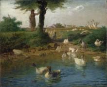 Пастушка гусей - Милле, Жан-Франсуа