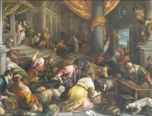 Очищение храма, 1585 - Бассано, Франческо