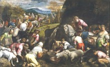 Израильтяне утоляют жажду, 1562 - Бассано, Якопо