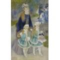 Мать с детьми на прогулке - Ренуар, Пьер Огюст