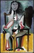 Обнаженная в кресле - Пикассо, Пабло