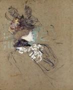 Портрет женщины в профиль - Тулуз-Лотрек, Анри де