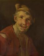 Голова мужчины в красном