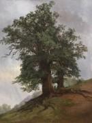 Старый дуб, 1866 - Шишкин, Иван Иванович