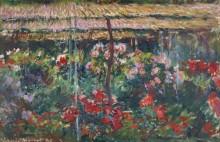 Сад с пионами - Моне, Клод