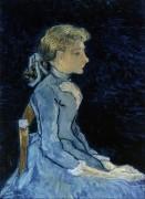 Портрет Аделины Раву (Portrait of Adeline Ravoux), 1890 - Гог, Винсент ван
