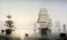 Бостонский залив, закат - Лейн, Фиц Генри