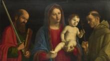 Мадонна с младенцем и святой Павел - Конельяно, Чима да