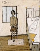 Женщина, сидящая в мастерской - Бюффе, Бернар