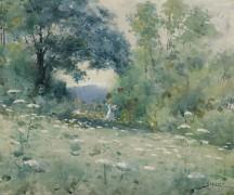 Леди в цветочном поле, 1899 -  Стейхен, Эдвард