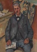 Портрет мужчины на стуле - Сезанн, Поль