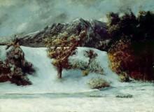 Зимний пейзаж - Курбе, Гюстав