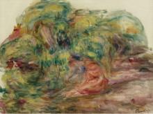 Две женщины в саду, 1919 - Ренуар, Пьер Огюст