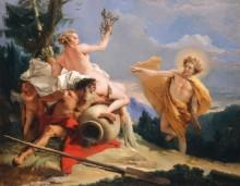 Аполлон, преследующий Дафну - Тьеполо, Джованни Баттиста