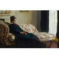 Медитация, г-жа Моне, сидя на диване, 1870-1871 - Моне, Клод