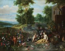 Флора и Амур в цветочном саду - Брейгель, Ян (младший)