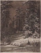 Зимняя лунная ночь, 1876-1892 - Шишкин, Иван Иванович