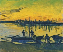 Угольные баржи (Coal Barges), 1888 - Гог, Винсент ван