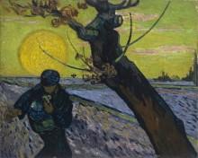 Сеятель на закате солнца (Sower with Setting Sun), 1888 - Гог, Винсент ван