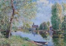 Весна в Море-сюр-Луэн - Сислей, Альфред