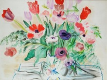 Анемоны и тюльпаны - Дюфи, Рауль