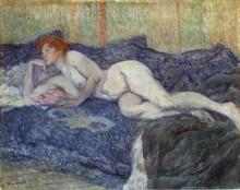 Обнаженная на диване - Тулуз-Лотрек, Анри де