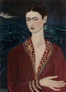 Автопортрет в бархатном платье - Кало, Фрида
