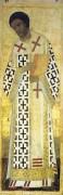Деисусный чин (Владимир, Успенский собор, 1408) 9. Св.Иоанн Златоуст - Рублев, Андрей