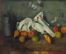 Кувшин молока и яблоки - Сезанн, Поль