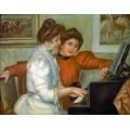 Урок музыки (Ивон и Кристин Лероль за пианино) - Ренуар, Пьер Огюст