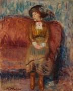 Женщина на красной софе - Глакенс, Уильям