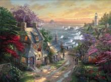 Сельский пейзаж с маяком - Кинкейд, Томас