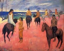 Всадники на пляже, 1902 - Гоген, Поль