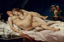 Спящие - Курбе, Гюстав