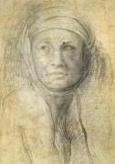 Голова женщины - Микеланджело Буонарроти