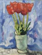 Тюльпаны в голубой вазе - Вальта, Луи