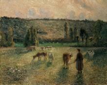Выпас коров в Эраньи - Писсарро, Камиль