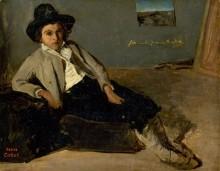 Юный итальянец - Коро, Жан-Батист Камиль